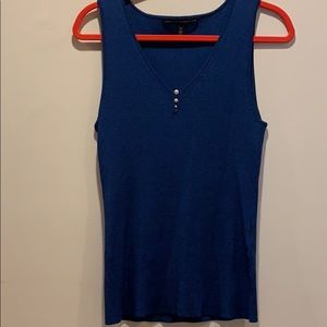 WHBM size M blue sleeveless sweater top